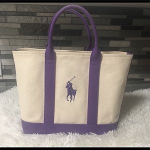 Ralph Lauren Small Canvas Tote Bag or Purse 👜